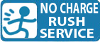 No Charge Rush Service Available